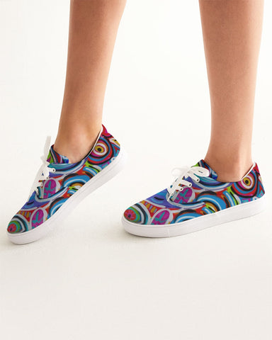 Dotty Women's Lace Up Canvas Shoe