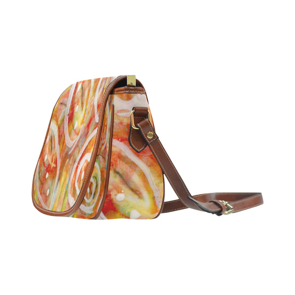 White Lines Small Saddle Bag (Model 1649) (Small)