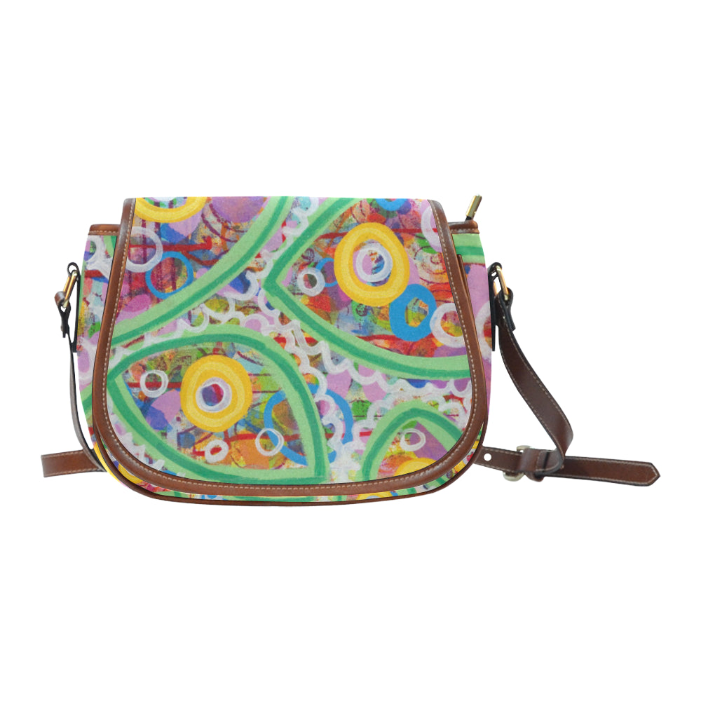 Green Line Small Saddle Bag (Model 1649) (Small)