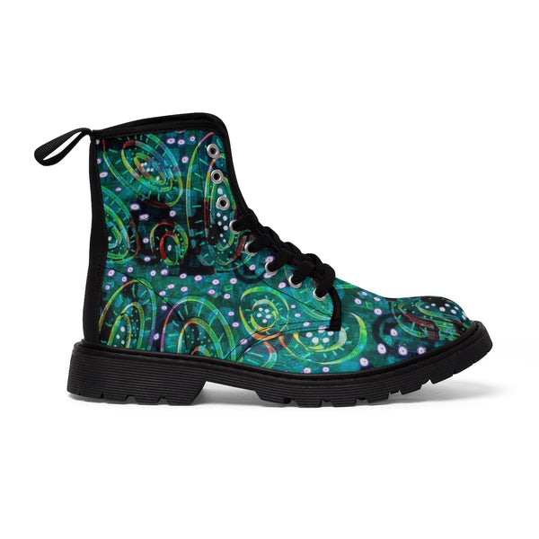 Green Circles Women's Martin Boots