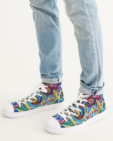 Dotty Men's Hightop Canvas Shoe