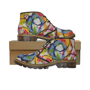 Women's Blue Circle Short Boots