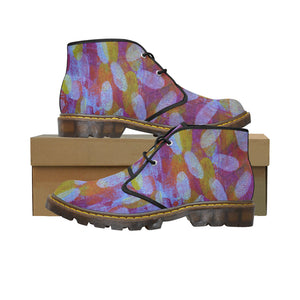 Women's White Spot Short Boots