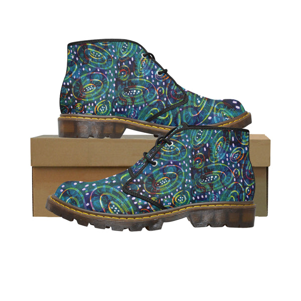 Women's Green Circle Short Boots