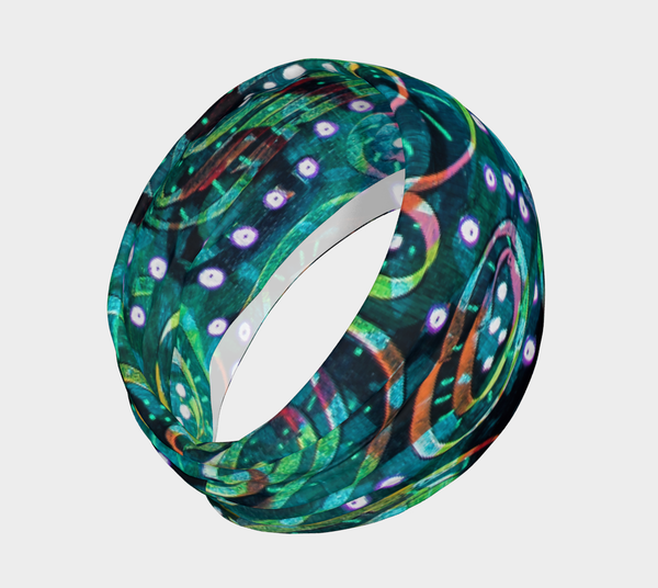 Green Circles headband