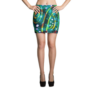 Green Circle Mini Skirt