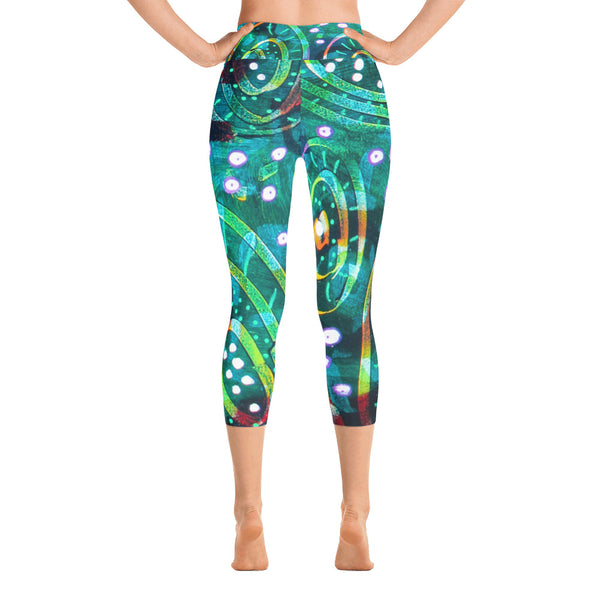 Green Circles Yoga Capri