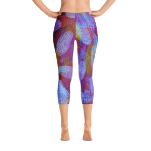 White Spot Capri Leggings