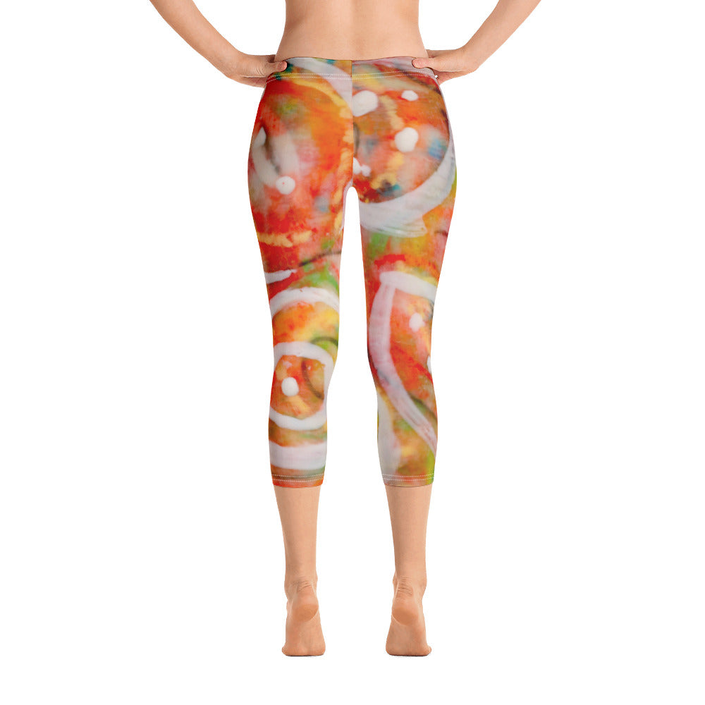 Falling Leaves Capri Leggings