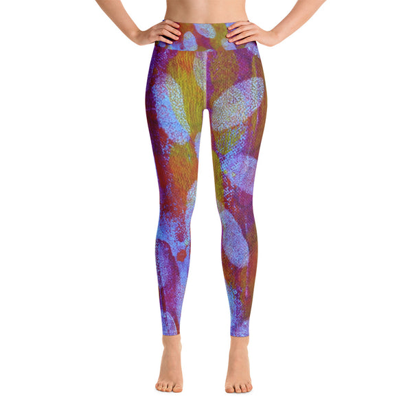 White Spot Yoga Leggings