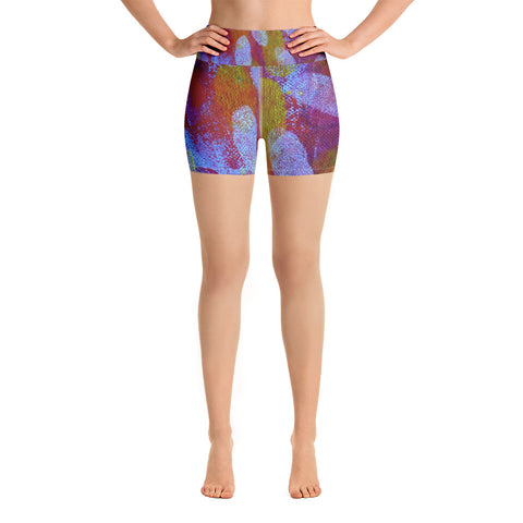 White Spot Yoga Shorts