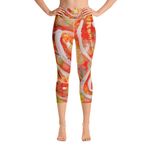 Falling Leaves Yoga Capri Leggings