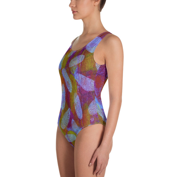 White Spot One-Piece Swimsuit