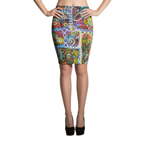 Holes Pencil Skirt