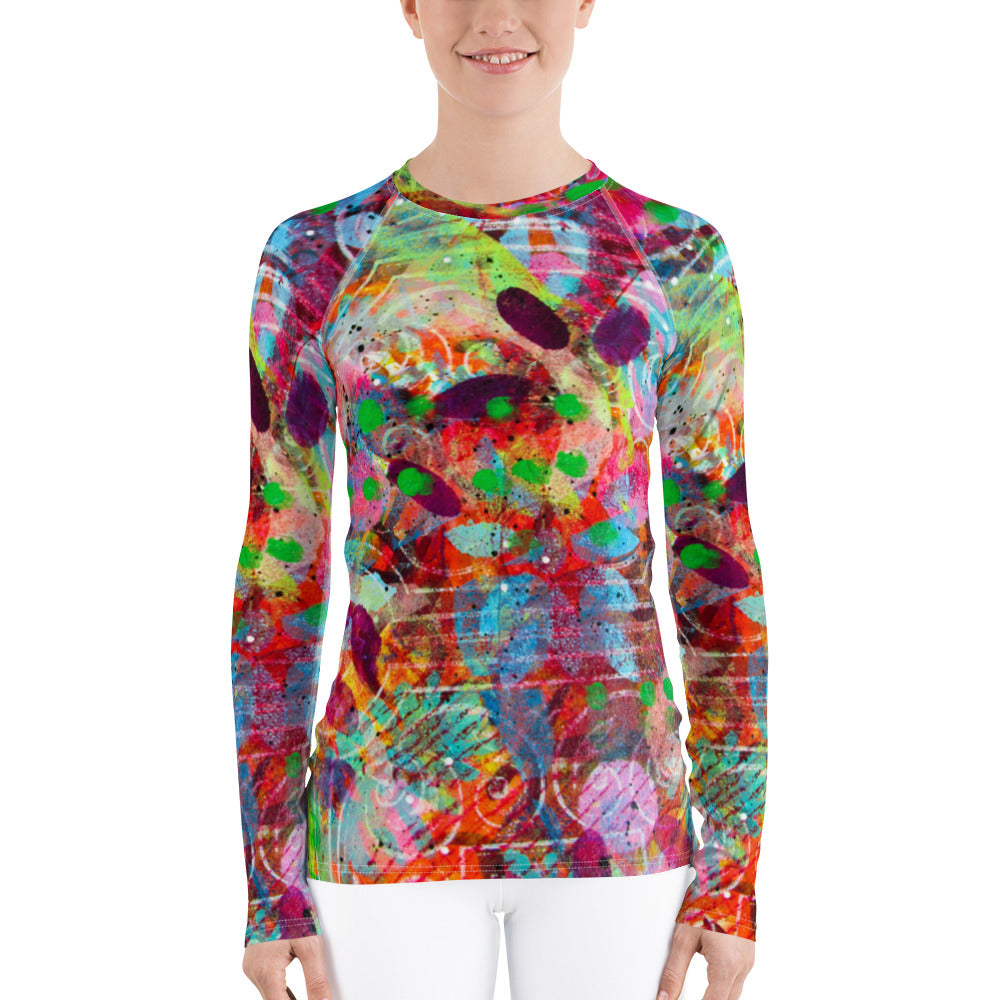 Fingerprint Women's Rash Guard