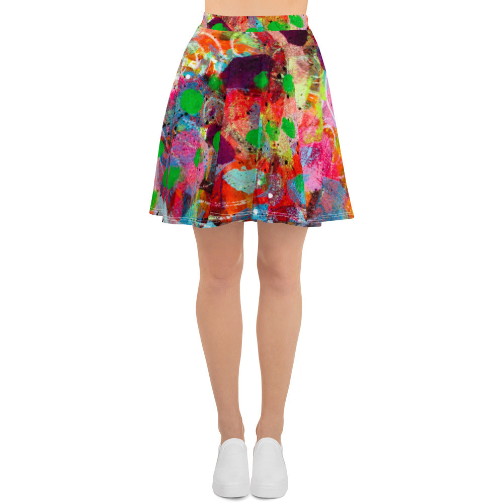 Fingerprint Skater Skirt