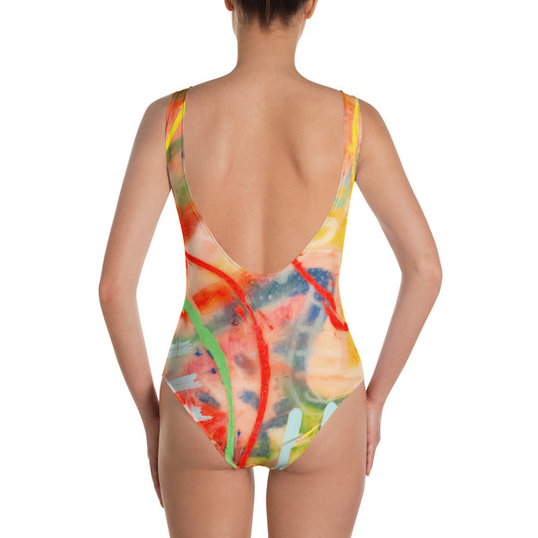 Blue Line One-Piece Swimsuit