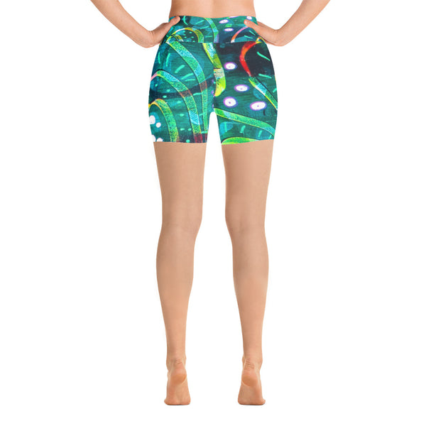 Green Circle Yoga Shorts