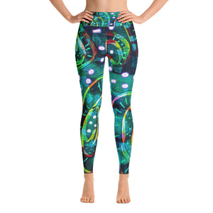 Green Circle Yoga Leggings