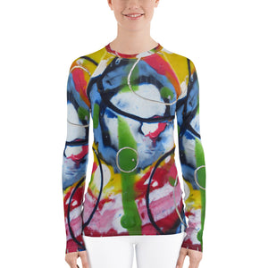 Blue Circle Women's Rash Guard