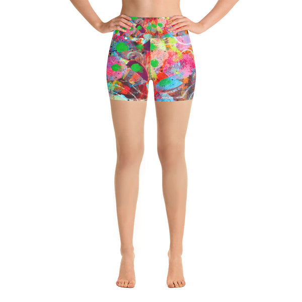 Fingerprint Yoga Shorts