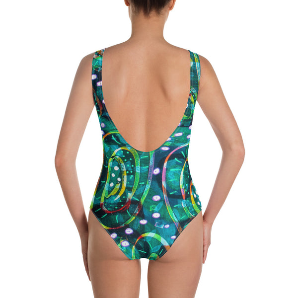 Green Circle One-Piece Swimsuit