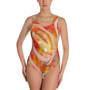 Falling Leaves One-Piece Swimsuit
