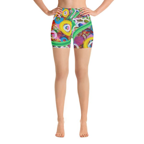 Green Line Yoga Shorts