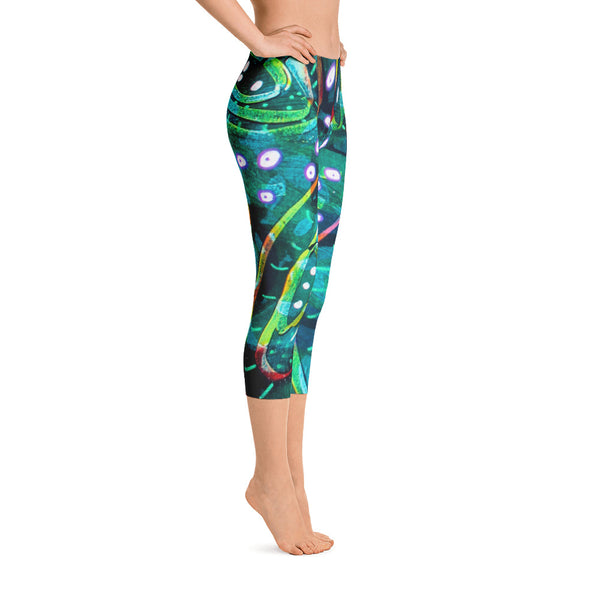 Green Circle Capri Leggings