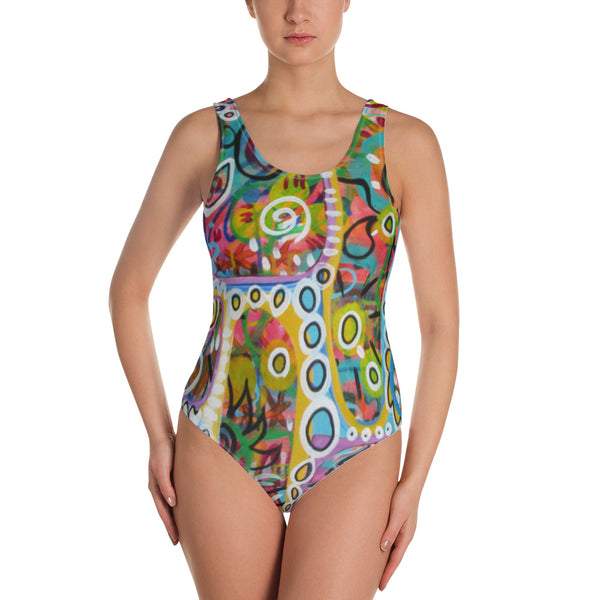 Holes One-Piece Swimsuit