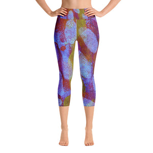 White Spot Yoga Capri Leggings