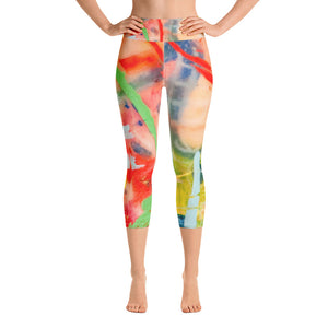 Blue Line Yoga Capri Leggings