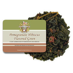 Pomegranate Hibiscus Green Tea - Loose Leaf