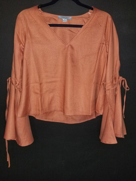 Salmon bell sleeve shirt