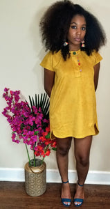Native Girl Mustard Dress