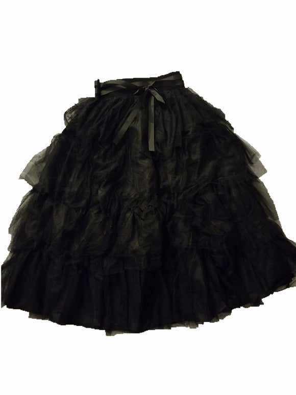 Black Multi-layered Skirt