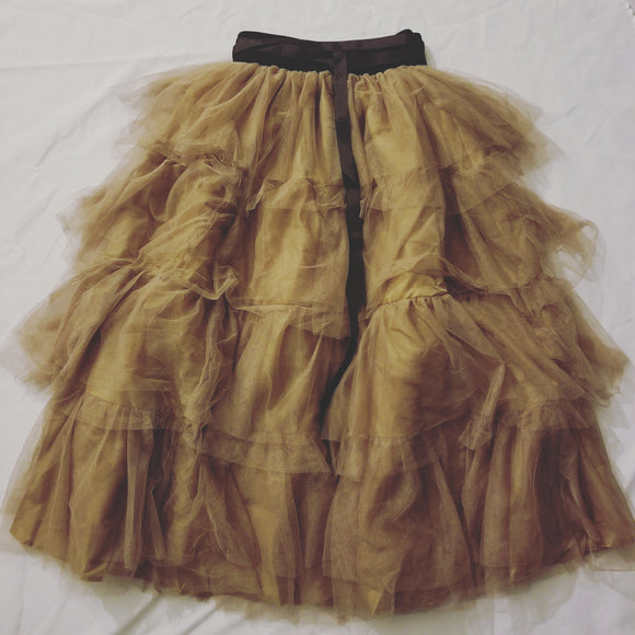 Mustard multi-layered skirt
