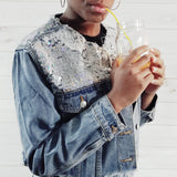 Sequin Jean Jacket