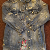 Long Distressed Jean Better Jacket