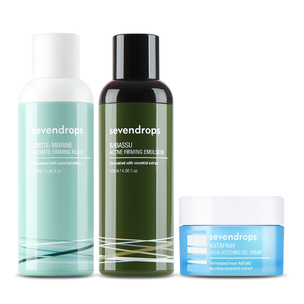 Troubless Set (Fluid+Emulsion+Gel Cream)+Bonus Gift TAMANU Cream!