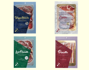 "A Lady Butcher ""Medium"" Charcuterie Collection of  Four 60g packs"