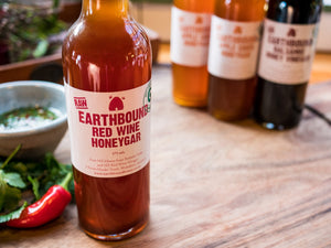 Earthbound raw organic Red Wine Honeygar 375ml