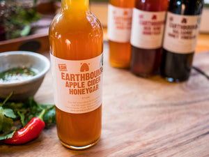 Earthbound raw organic Apple Cider Honeygar 375ml