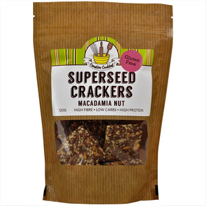 Superseed Macadamia nut Crackers 120gm
