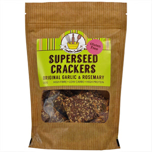 Superseed Original Garlic and Rosemary Crackers 120gm