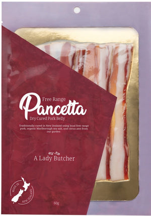 A Lady Butcher Charcuterie  Pancetta two  60g packs