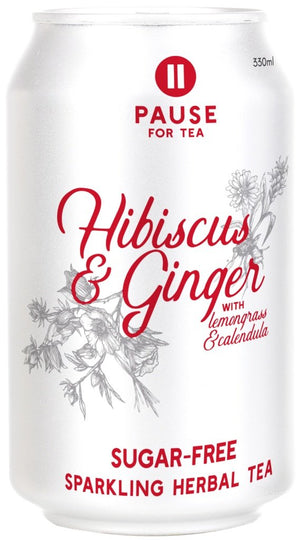 PAUSE for Tea Hibiscus and Ginger 330ml