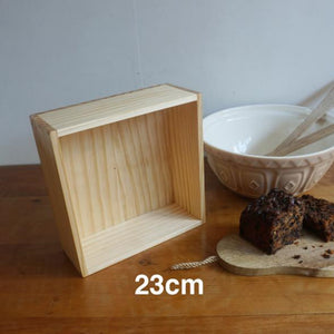 Wooden Baking Box 23cm