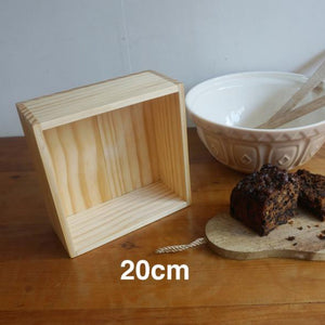 Wooden Baking Box 20cm
