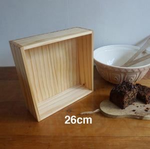 Wooden Baking Box 26cm